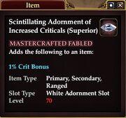 Scintillating Adornment of Increased Criticals (Superior)