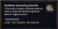 Sootfoot Armoring Secrets (Quest Item)