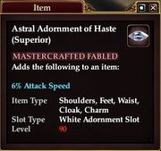 Astral Adornment of Haste (Superior)