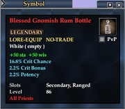 Blessed Gnomish Rum Bottle