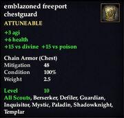 Emblazoned freeport chestguard
