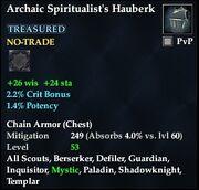 Archaic Spiritualist's Hauberk