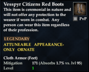 Vesspyr Citizens Red Boots