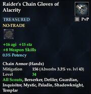 Raider's Chain Gloves of Alacrity