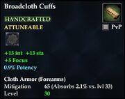 Broadcloth Cuffs