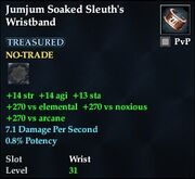 Jumjum Soaked Sleuth's Wristband
