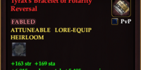 Tyrax's Bracelet of Polarity Reversal