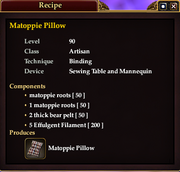 Matoppie Pillow (Recipe)