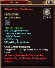 Ritual Habit Vambraces