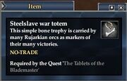 Steelslave war totem