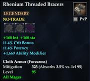 Rhenium Threaded Bracers
