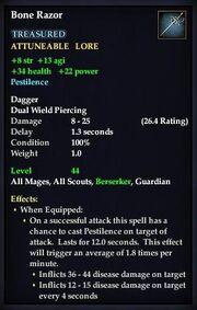 Bone Razor (Level 44)