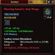 Flowing Sensei's Arm Wraps