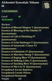 Alchemist Essentials Volume 66