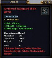 Awakened Scaleguard chain gloves