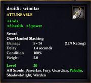 Druidic scimitar