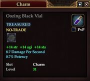 Oozing Black Vial