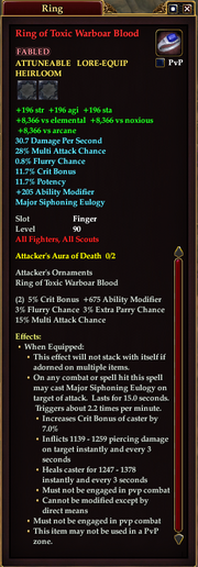 Ring of Toxic Warboar Blood