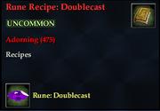 Rune Recipe- Doublecast