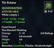 Tin Katana