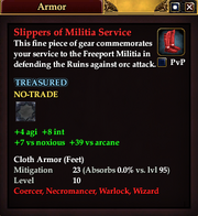 Slippers of Militia Service