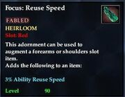 Focus Reuse Speed