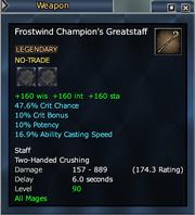 Frostwind Champion's Greatstaff