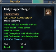 Dirty Copper Bangle