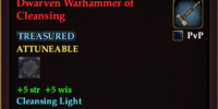 Dwarven Warhammer of Cleansing