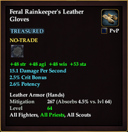 Feral Rainkeeper's Leather Gloves