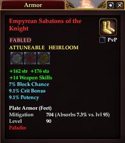 Empyrean Sabatons of the Knight