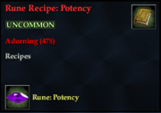 Rune Recipe- Potency