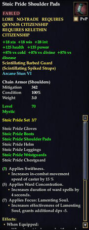 Stoic Pride Shoulder Pads