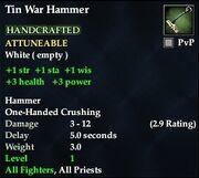 Tin War Hammer