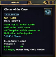 Gloves of the Onset