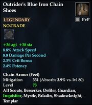Outrider's Blue Iron Chain Shoes