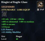 Ringlet of Fragile Glass