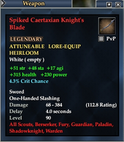 Spiked Caertaxian Knight's Blade