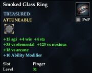Smoked Glass Ring
