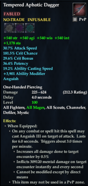 Tempered Aphotic Dagger