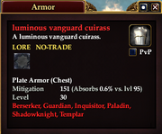 Luminous vanguard cuirass