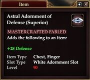 Astral Adornment of Defense (Superior)