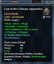 Coat of the Culinary Apprentice