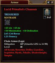 Lucid Primalist's Chausses