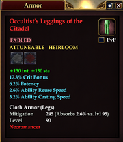 Occultist's Leggings of the Citadel
