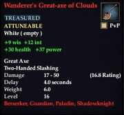 Wanderer's Great-axe of Clouds