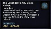 The Legendary Shiny Brass Halberd