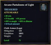 Arcane Pantaloons of Light