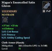 Magus's Ensorcelled Satin Gloves