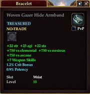 Woven Gazer Hide Armband